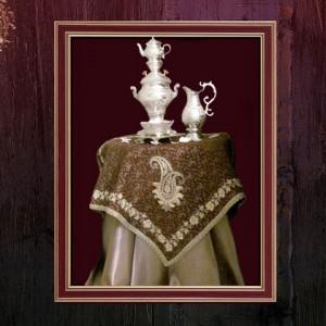 رومیزی مربع سنتی ترمه