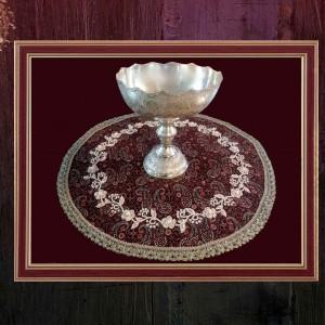 رومیزی گرد سنتی ترمه